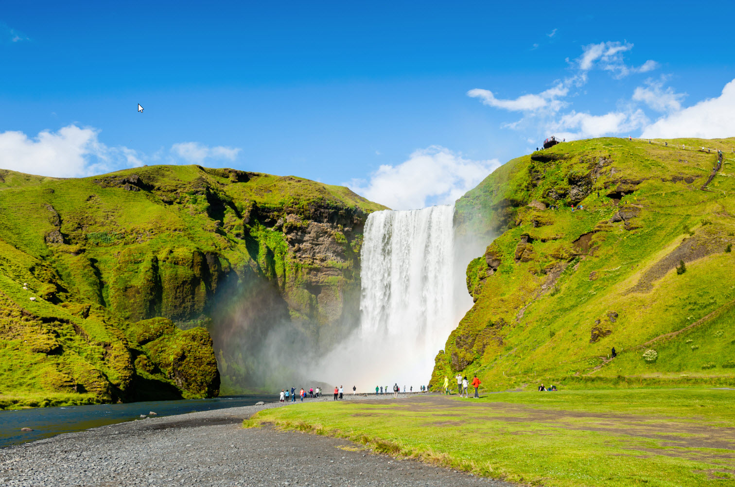 Skógafoss in summer