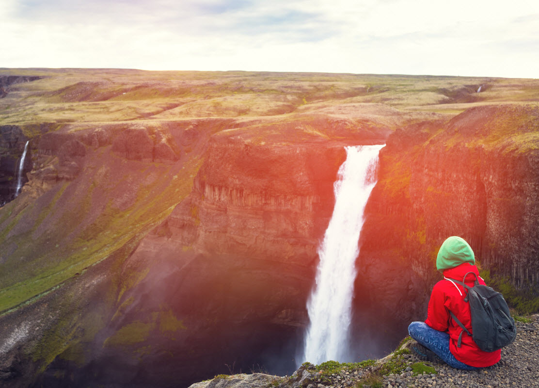 Haifoss is the third highest waterfall in Iceland