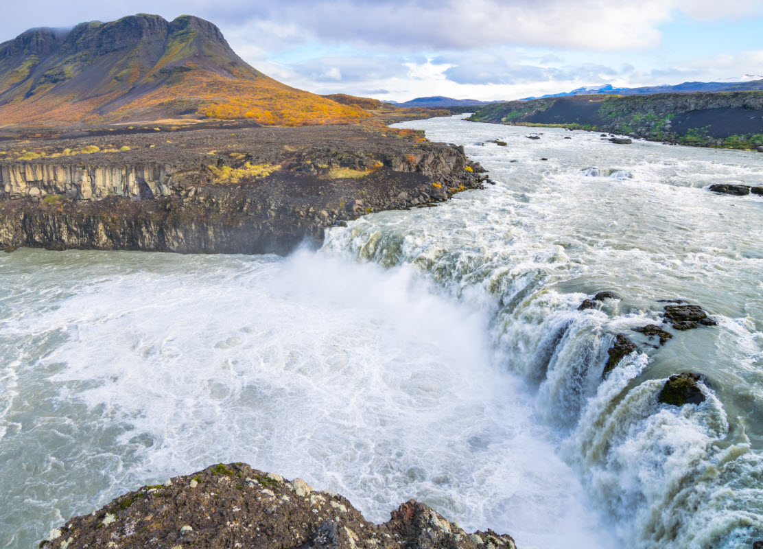 Þjófafoss or Thief Waterfall is a beautiful waterfall in South Iceland