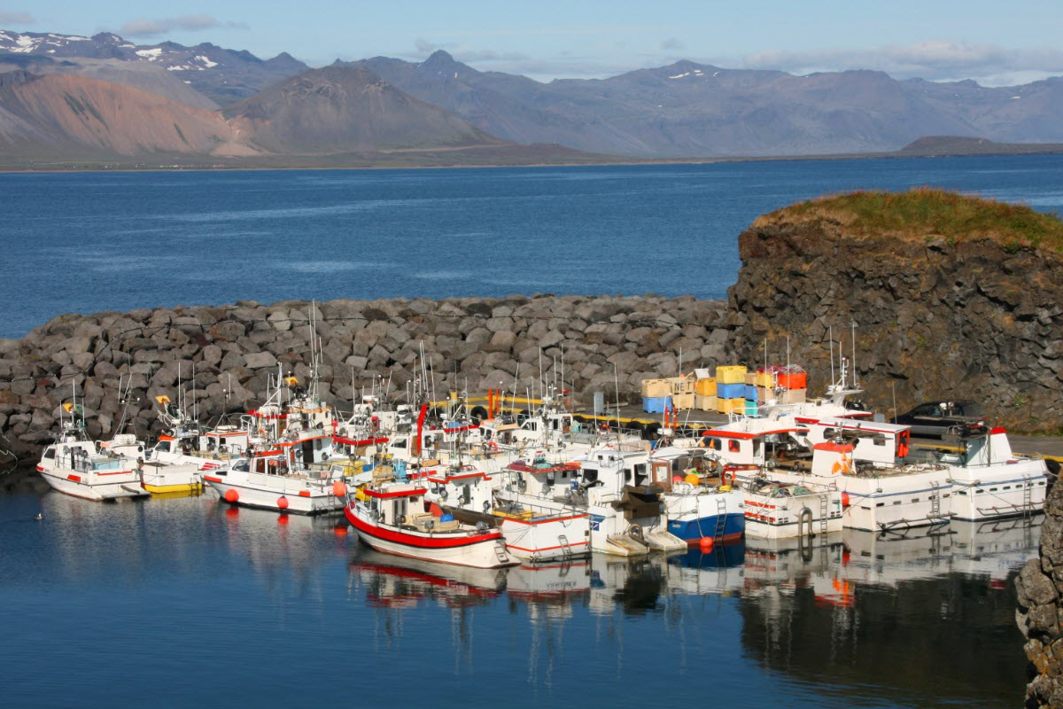 The Harbor at Arnarstapi in Snæfellsnes Peninsula in West Iceland