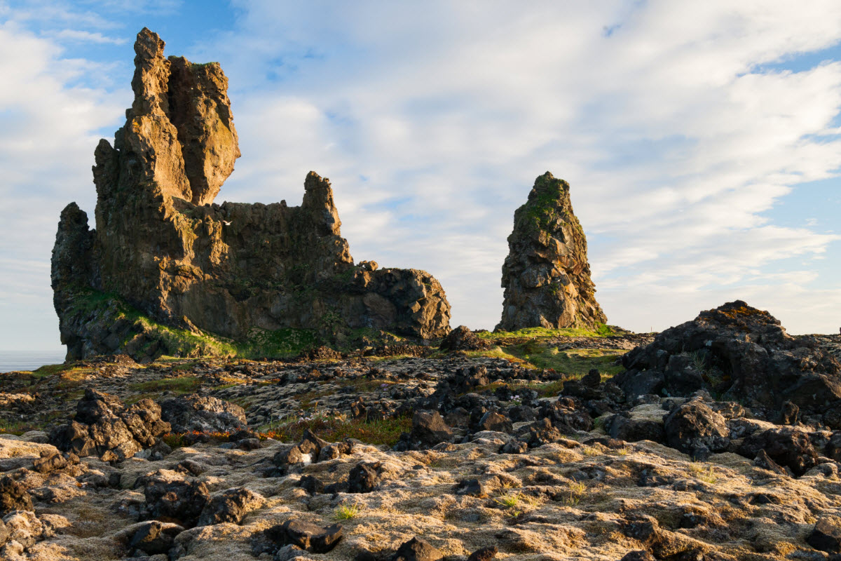 The lava formation Londrangar in Snæfellsnes Iceland