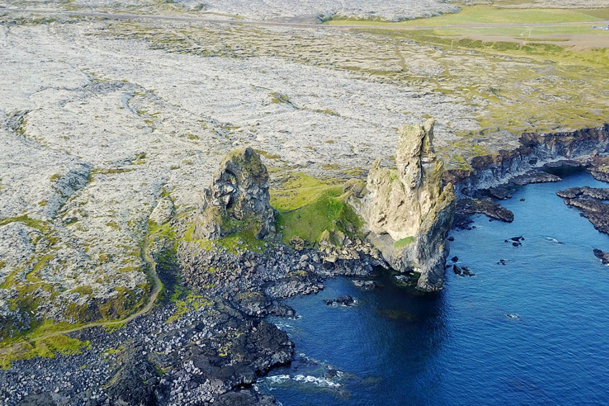 Londrangar in Snaefellsnes West Iceland