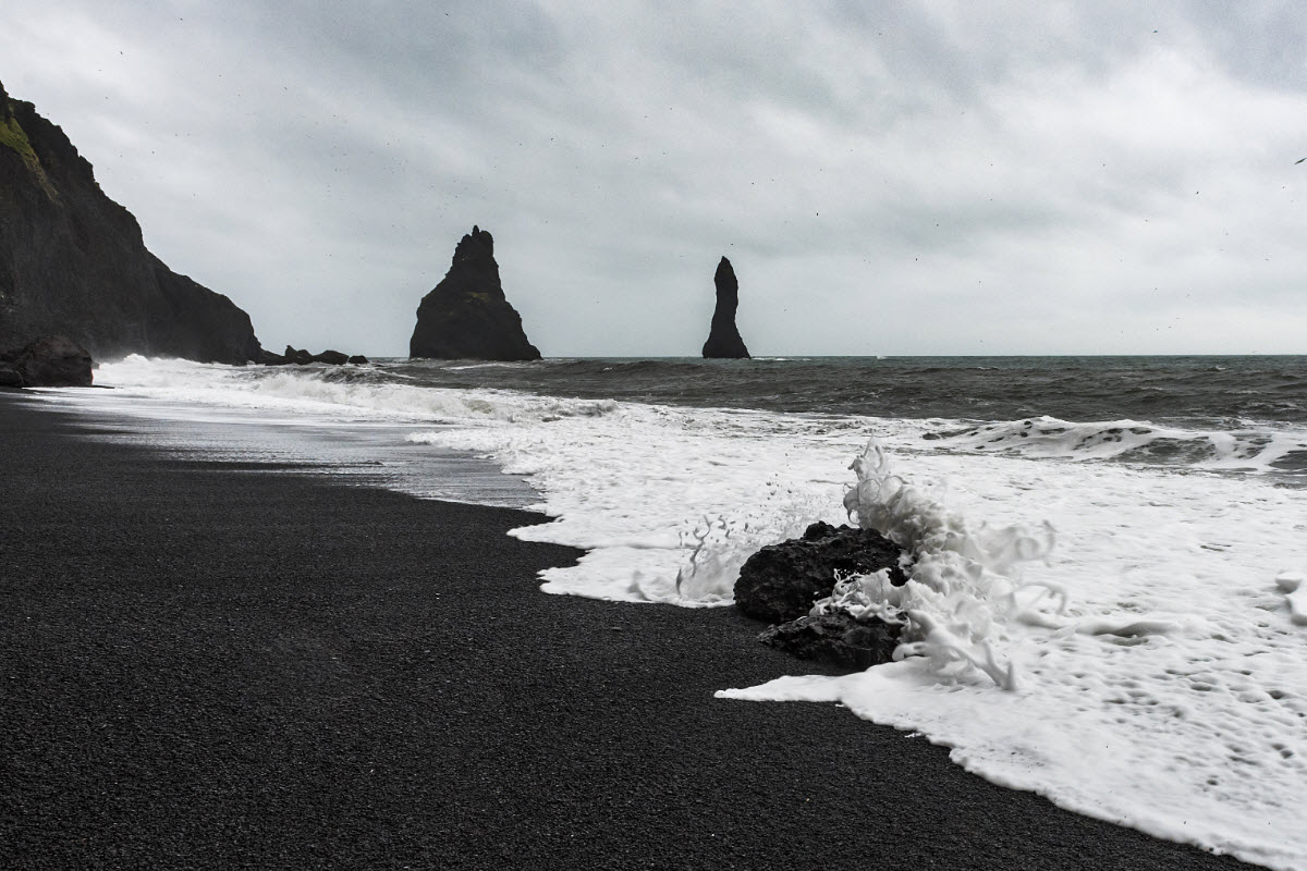 The black sands around the town Vík are something you must experience
