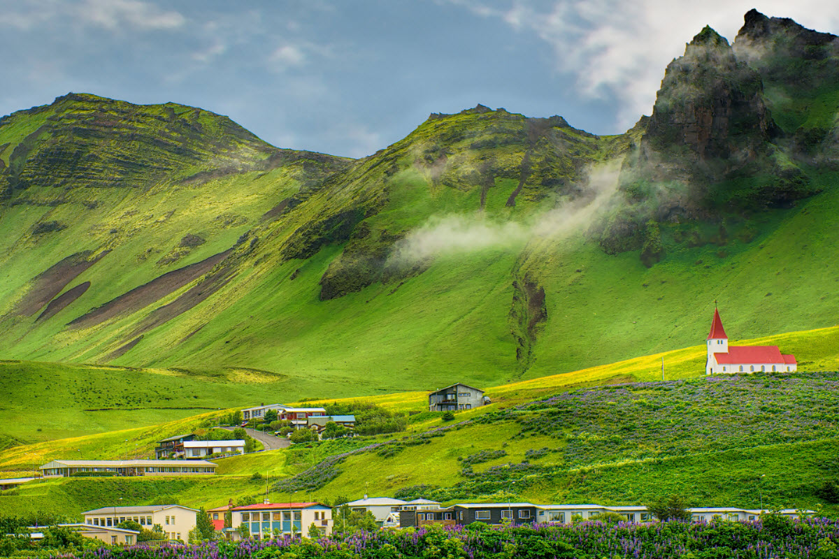 The mountains around Vík are magnificent