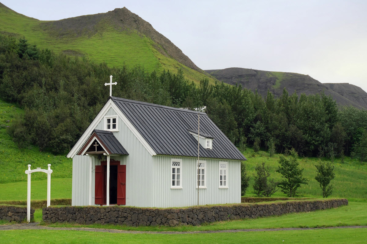 The old church at Skógar Iceland
