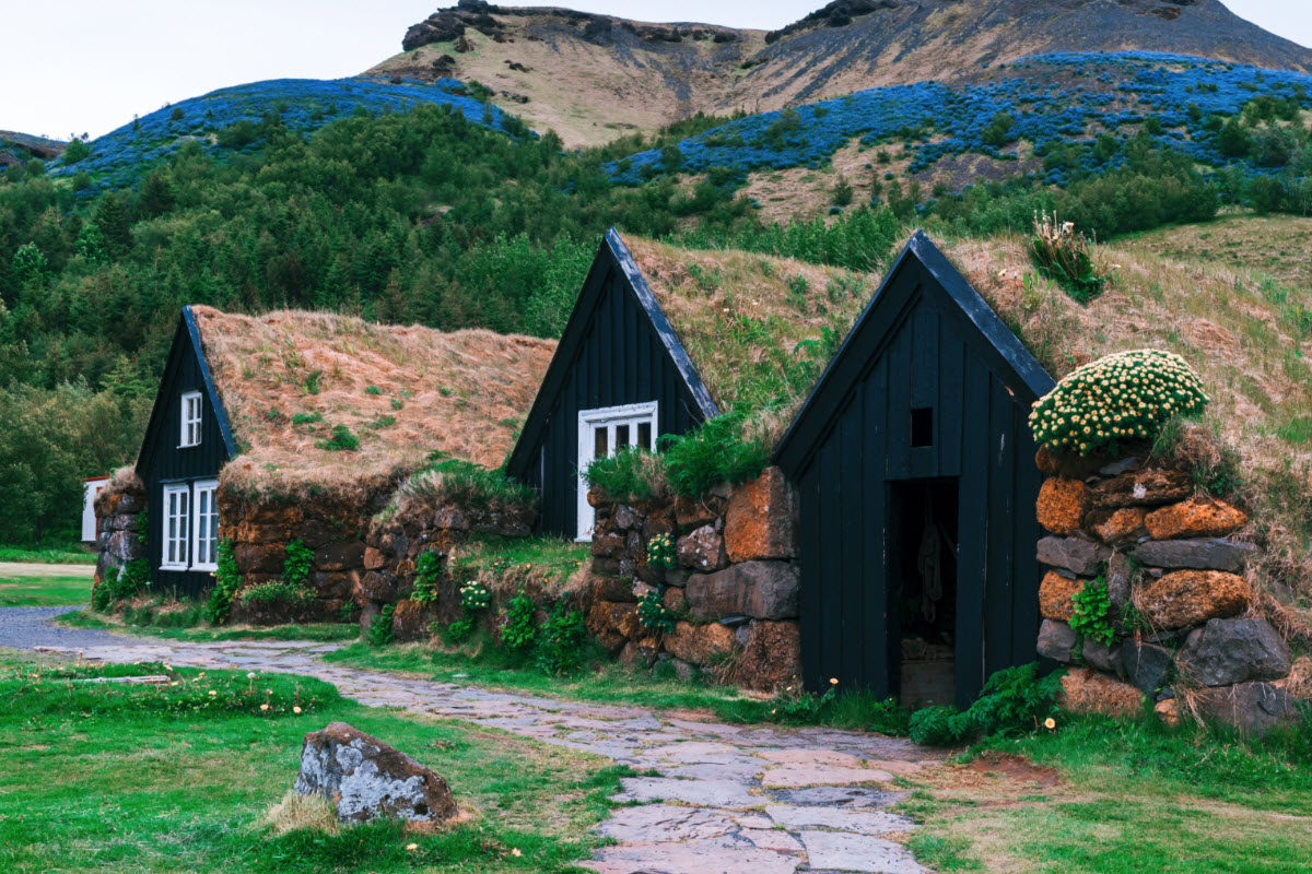 It is possible to check out the old Icelandic houses at the Skogar Museum