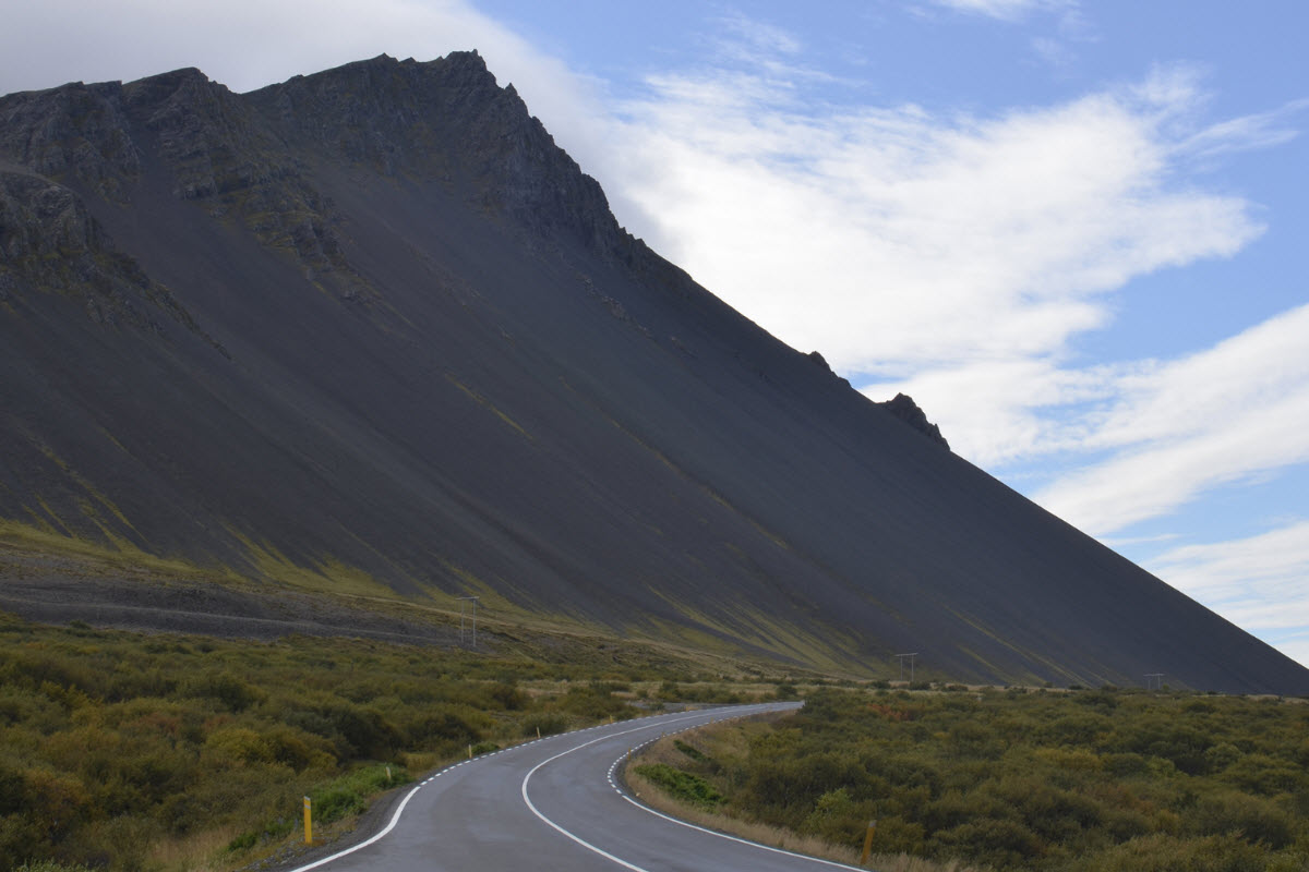 The road to Borgarnes Iceland