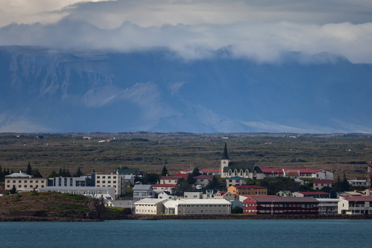 The town Borgarnes in West Iceland