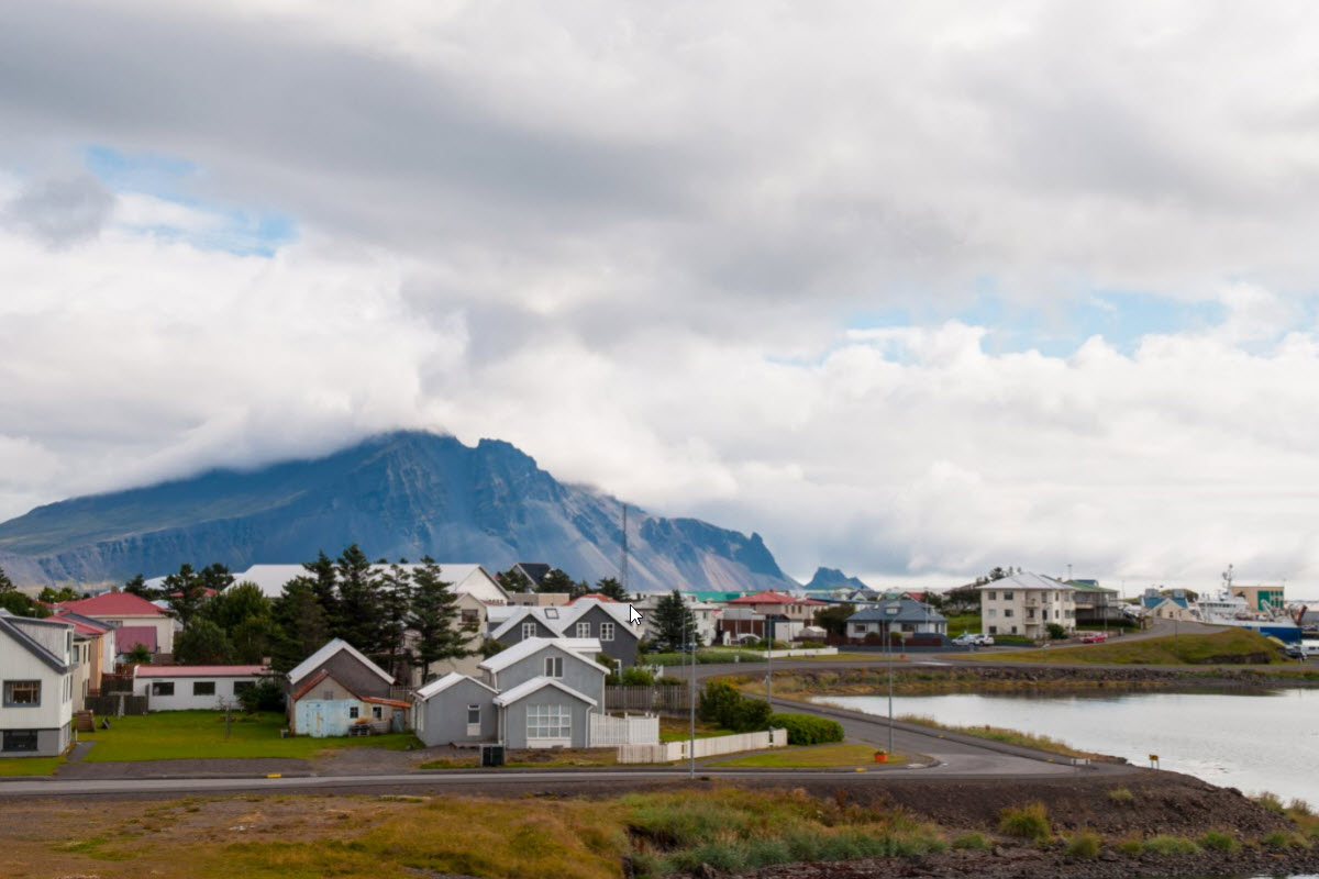 The town Höfn in South Iceland