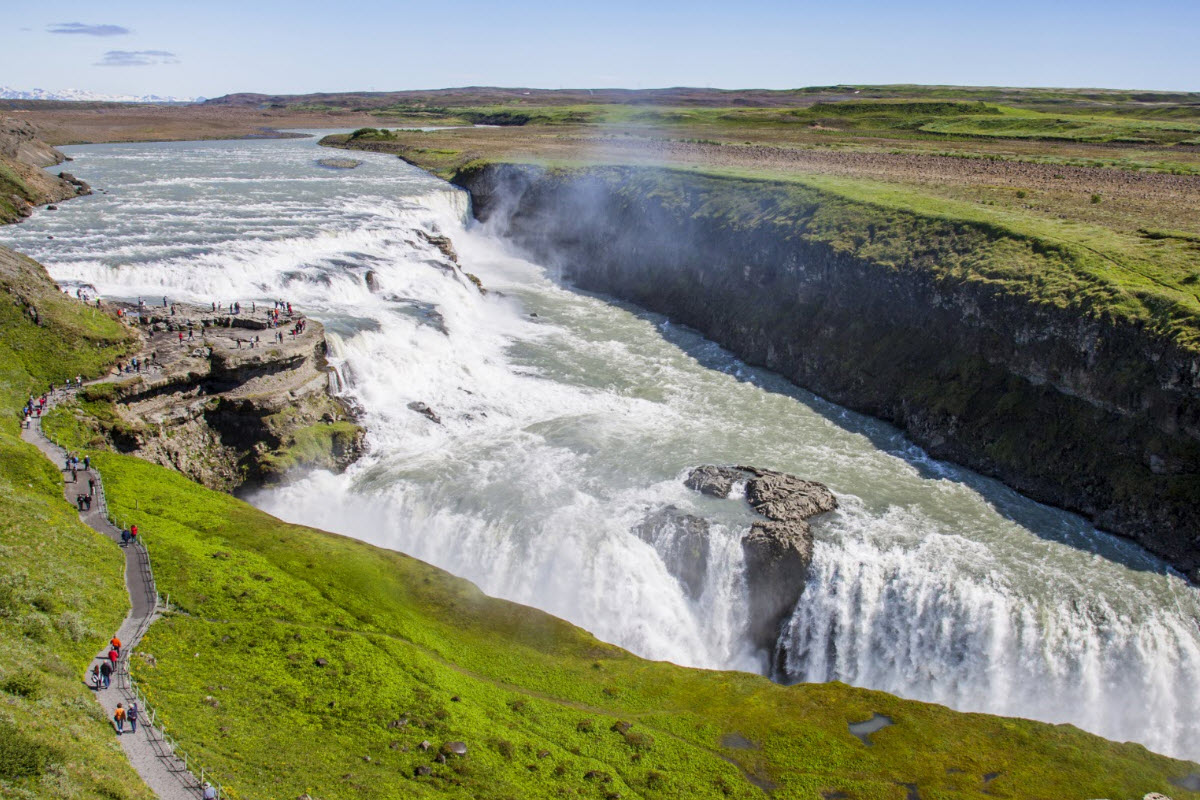 Gullfoss waterfall in South Iceland is part of the Golden Circle