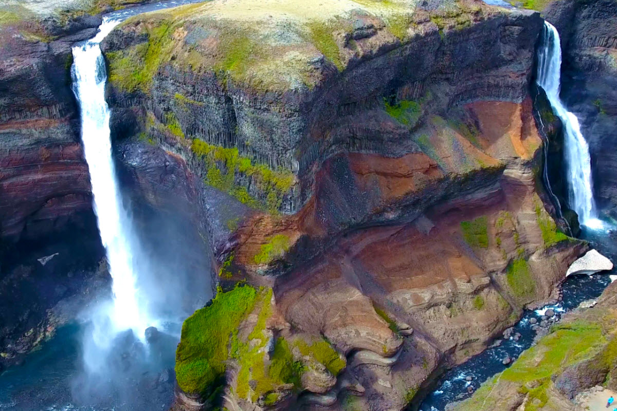 Haifoss Waterfall in South Iceland