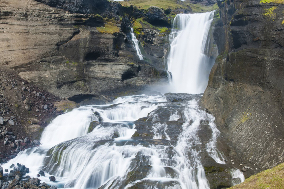 Ofærufoss is a waterfall in the highlands of Iceland