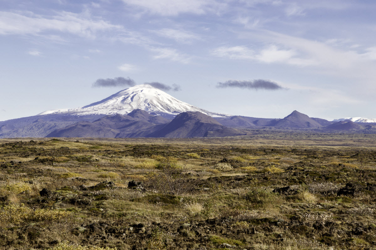 The volcano Hekla in Iceland