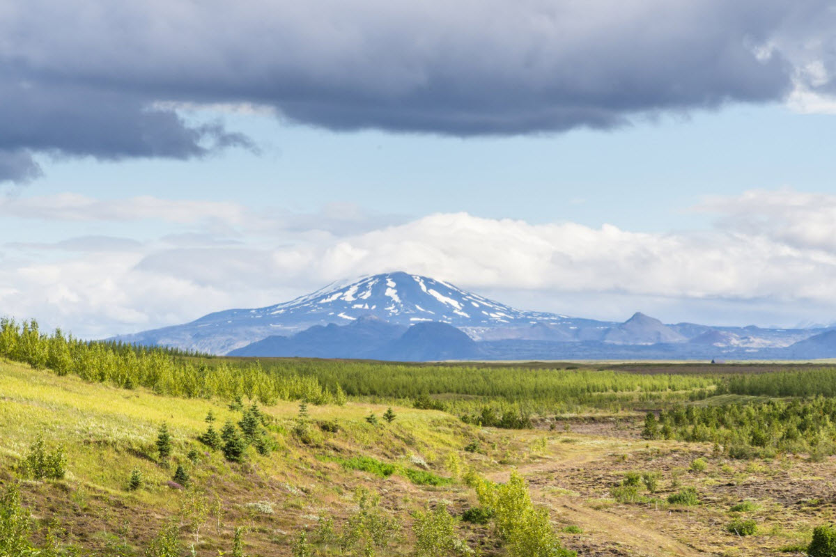 Hekla is one of the most famous and active volcanoes in Iceland