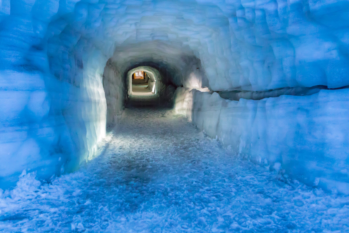 Book a tour and experience the amazing ice tunnel in Langjokull glacier