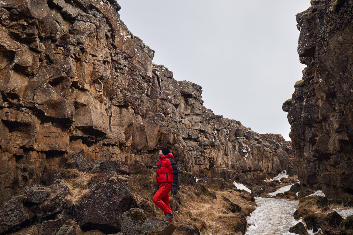 Lava formation at Thingvellir National Park