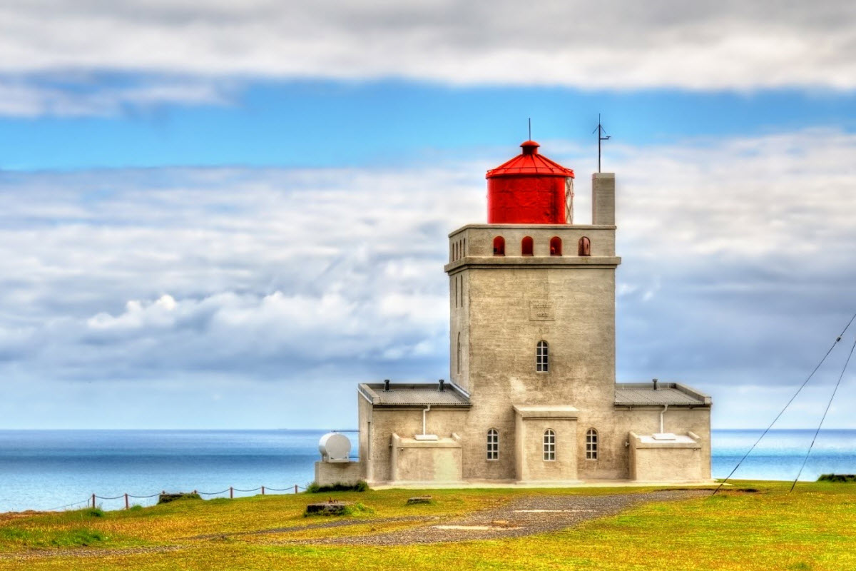 The lighthouse at Dyrholey in South Iceland
