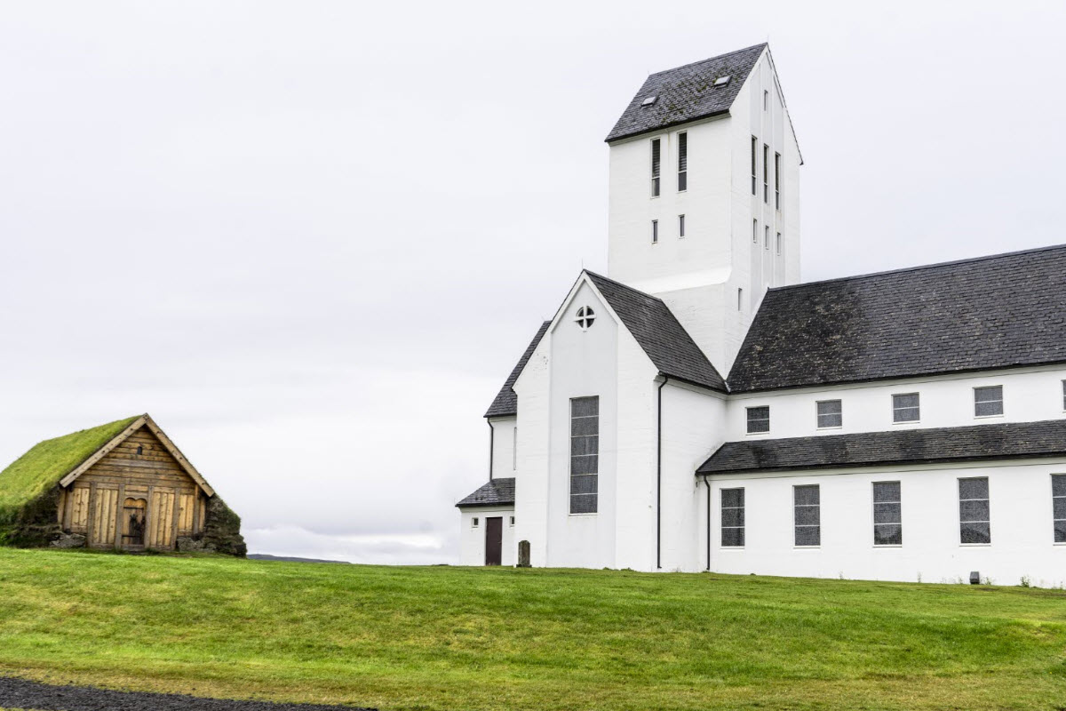 The church at Skalholt in Iceland
