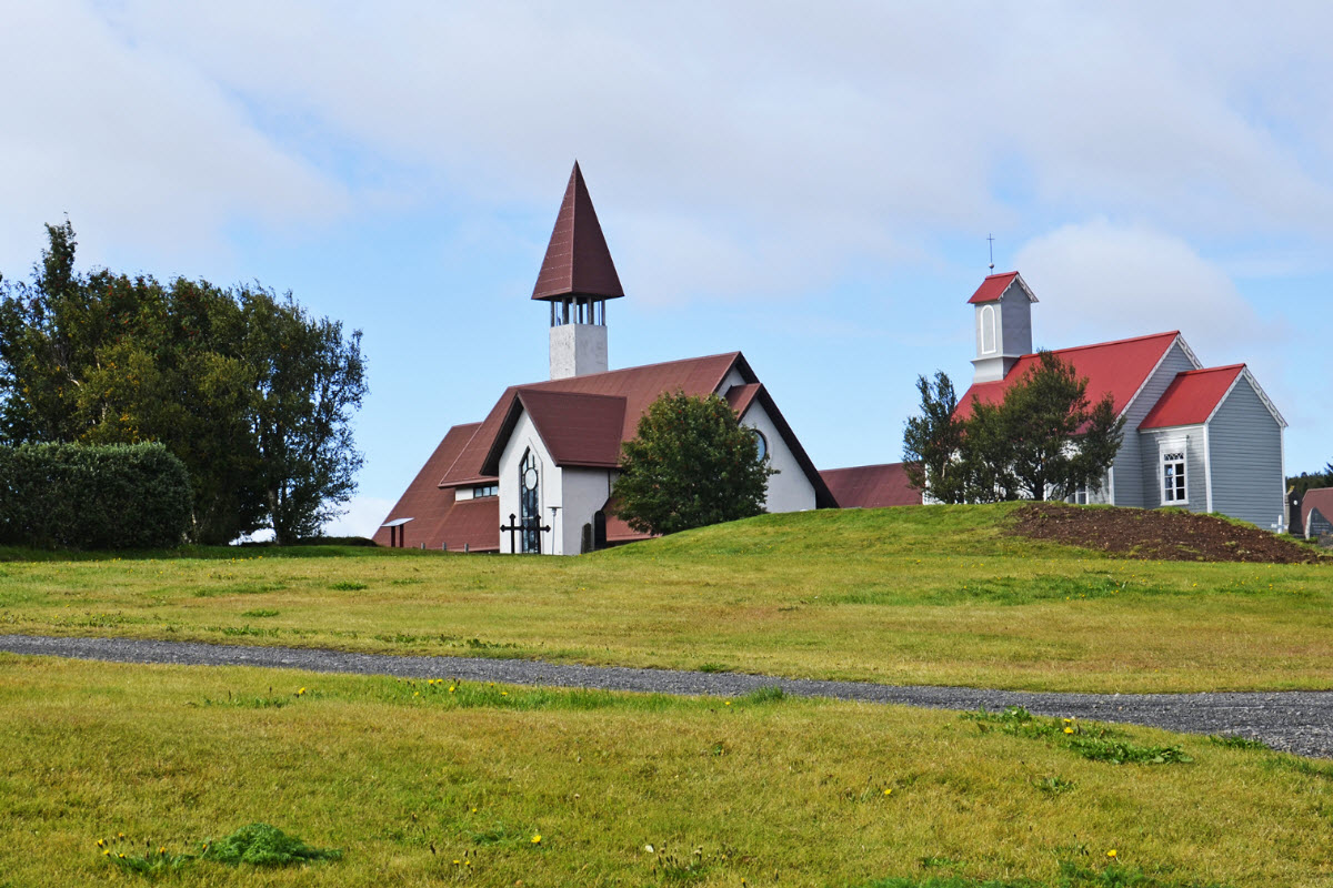 The church at Reykholt Iceland
