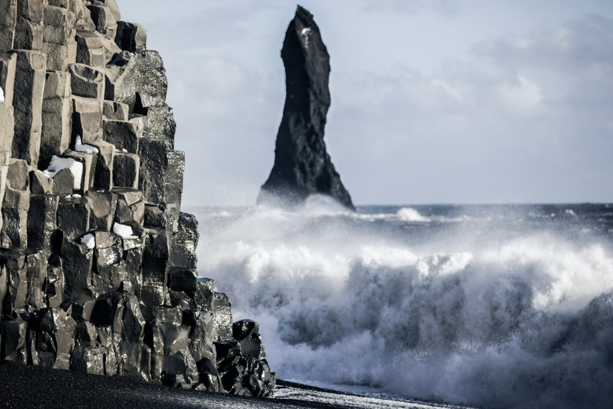 The waves at Reynisfjara can be very strong so be careful