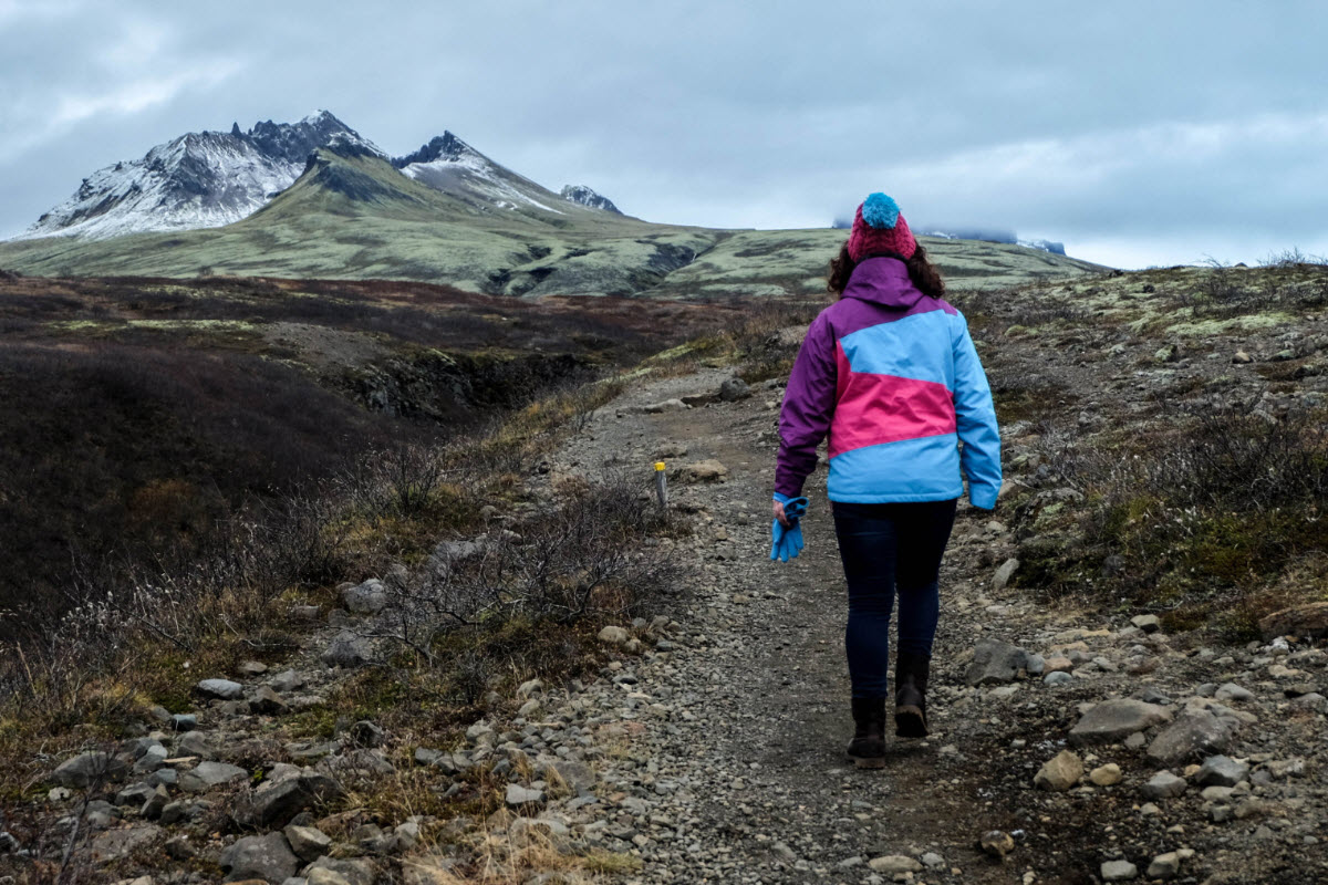 Hiking in Skaftafell Iceland