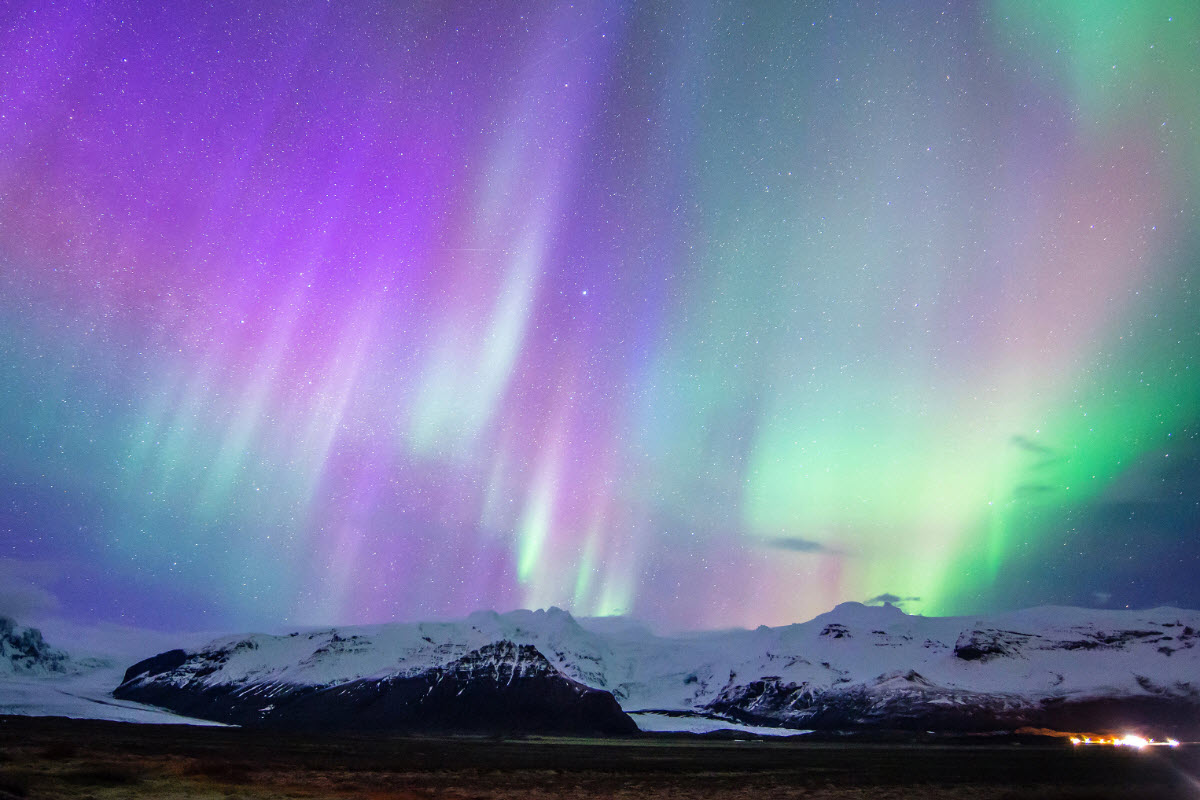 The Northern Lights in Skaftafell National Park