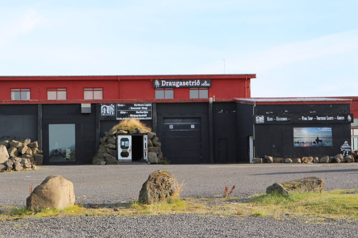 The Ghost Center is a museum in Stokkseyri about Icelandic Ghosts, Elves and the Northern Lights