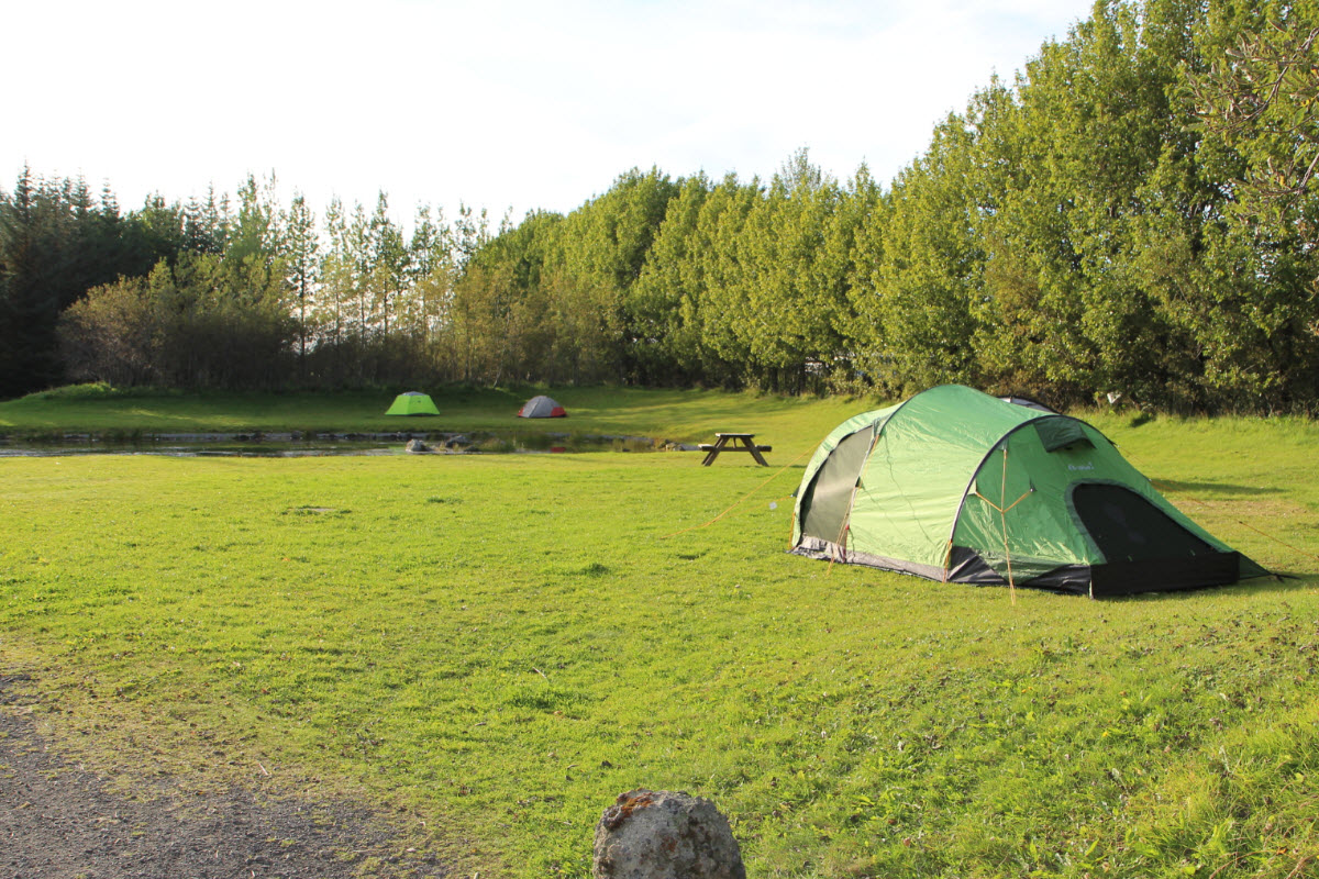 The camping ground in Selfoss