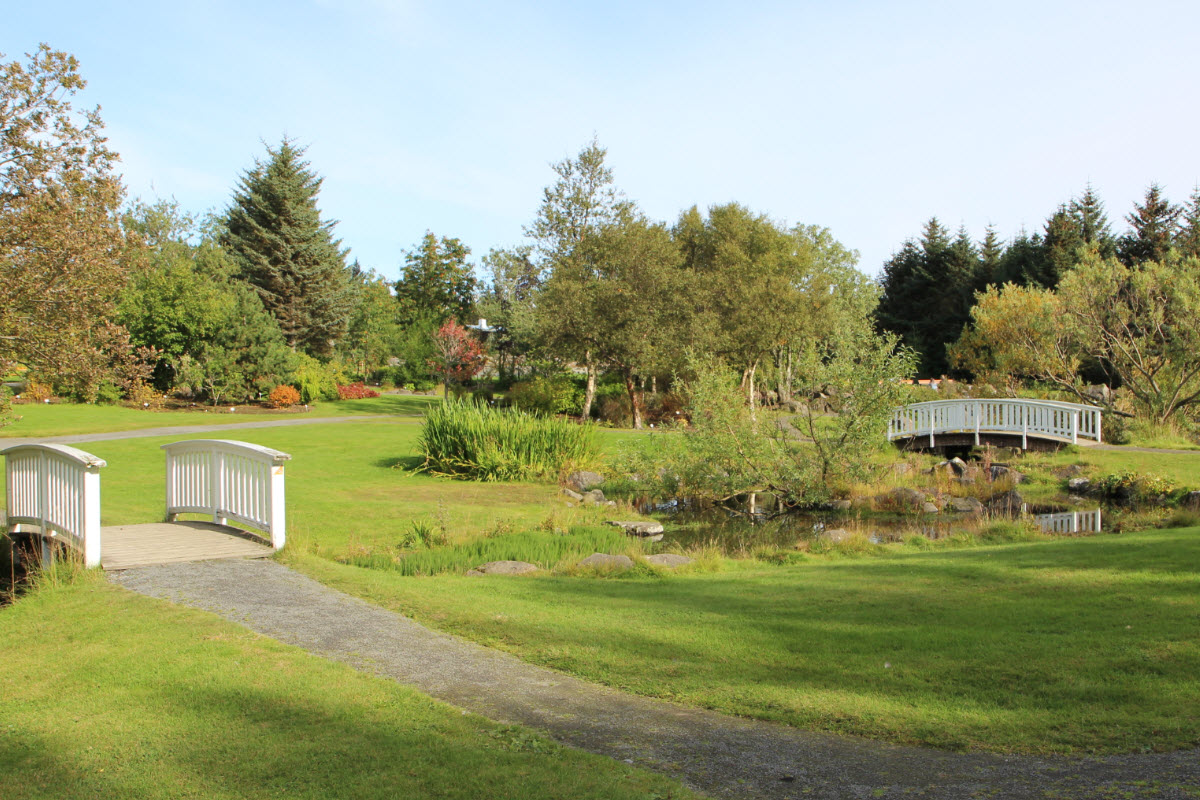 The Botanical Garden in Laugardalur Valley in Reykjavik