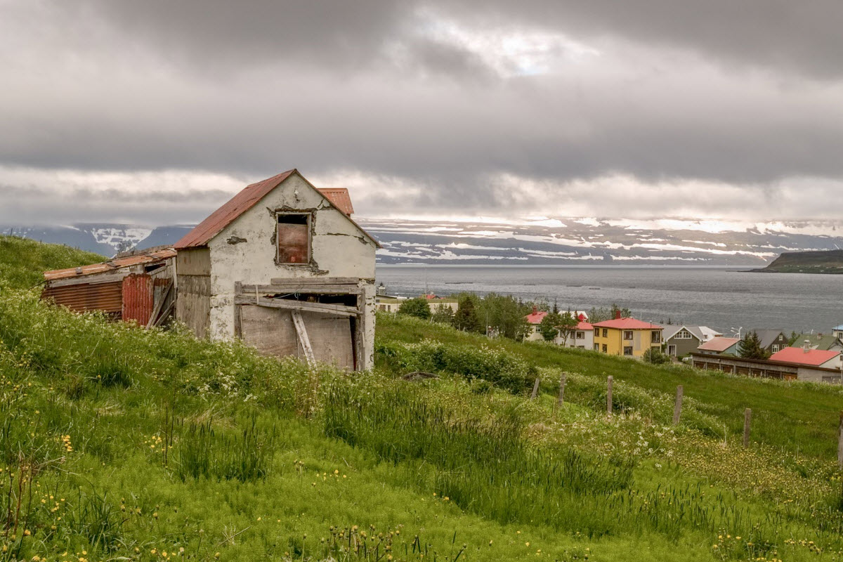 Old house in Isafjörður town in the Westfjords of Iceland