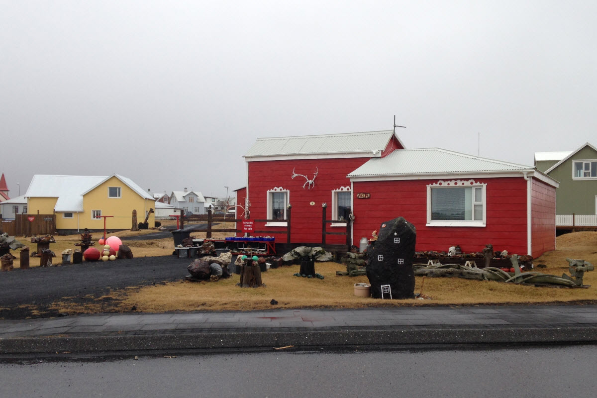 The village Grindavik on the Reykjanes peninsula in Iceland