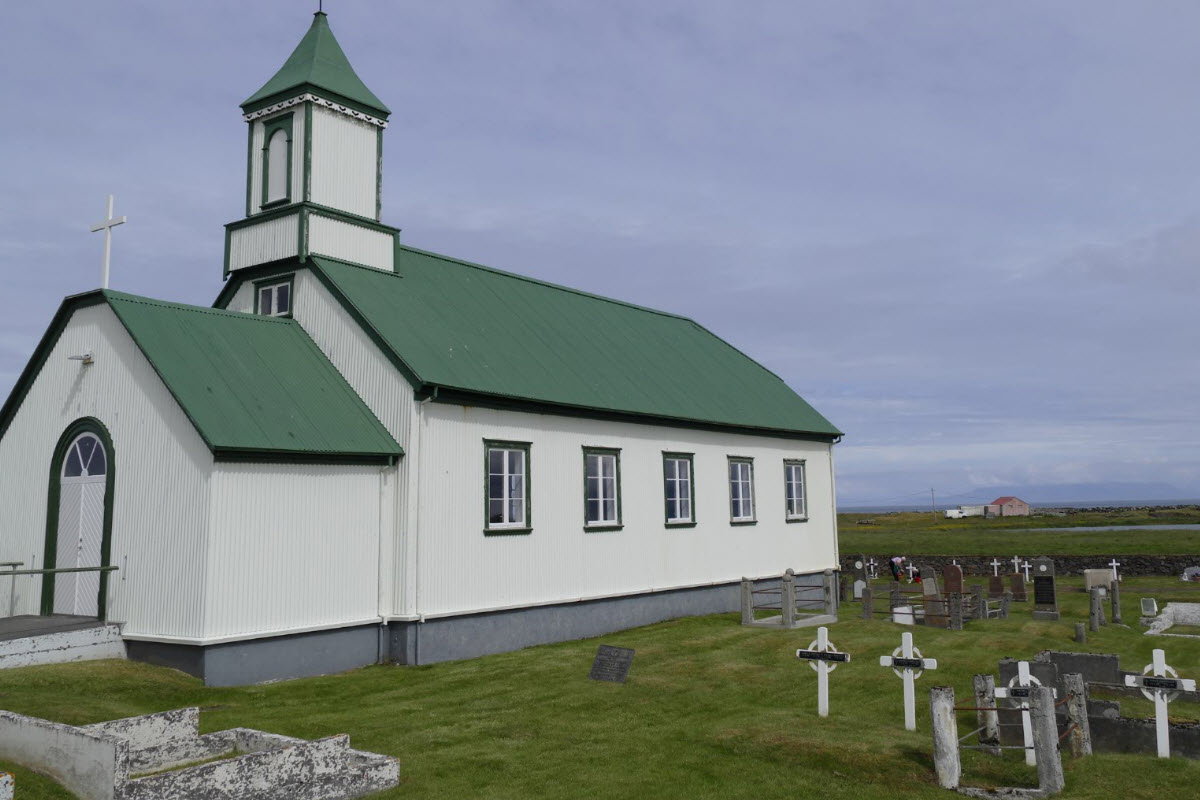 The beautiful church at Gardur in Iceland