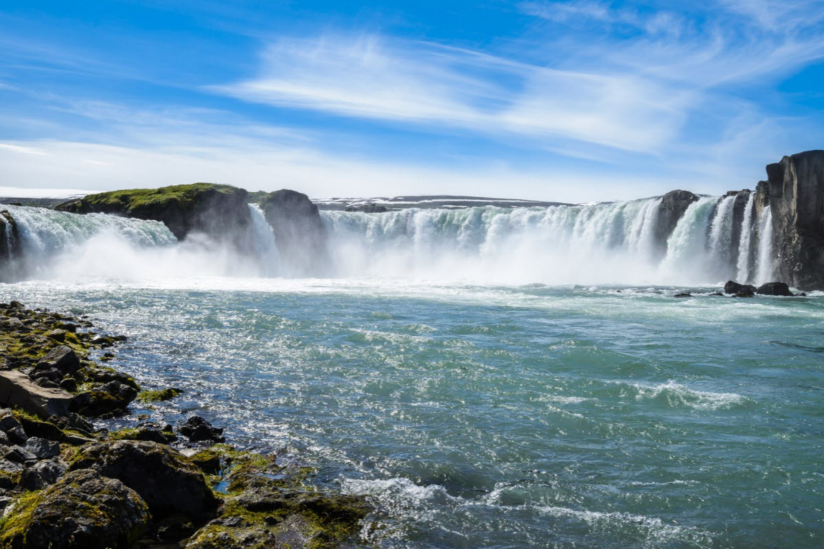 Godafoss is a beautiful waterfall located in North Iceland