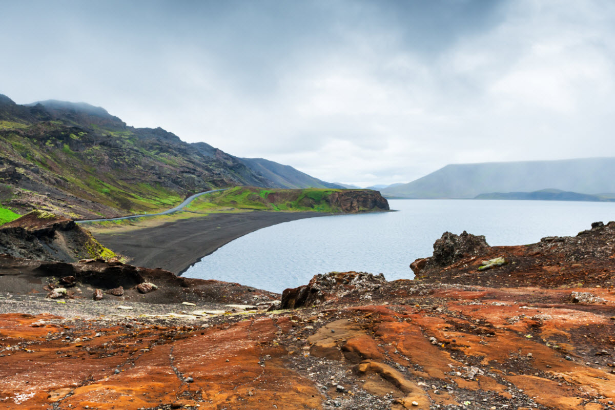 Kleifarvatn is located on the Reykjanes peninsula in Iceland