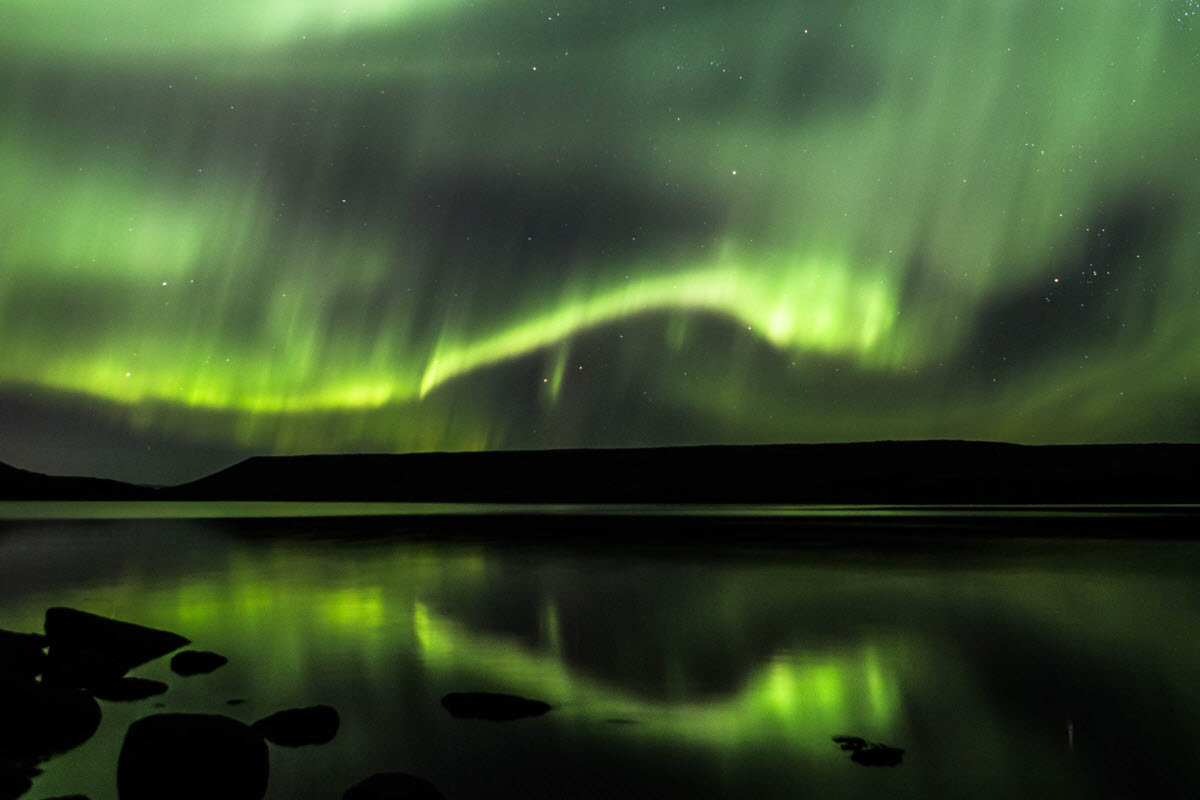 The Northern Lights by Kleifarvatn lake