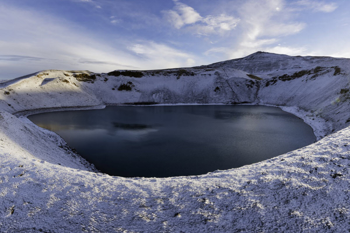 The caldera by Krafla during winter