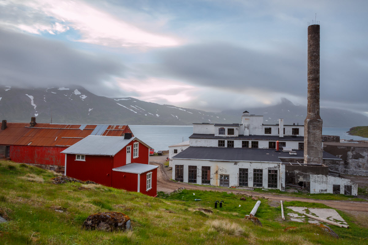 The old herring factory in Djupavik