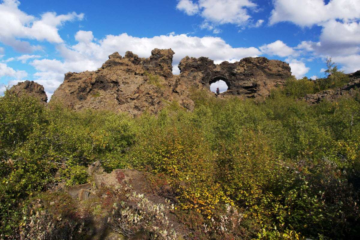 Dimmuborgir is a unique area in North Iceland