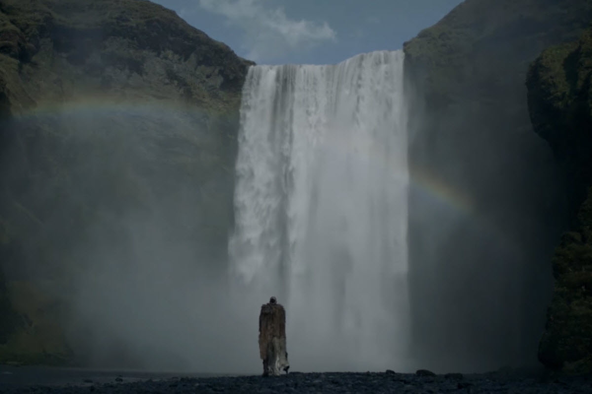 Skógarfoss Waterfall Iceland - Filming location of the TV